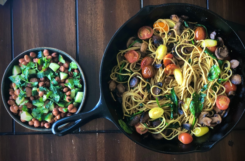 Chinese Five Spice Pasta with Fava Bean Salad